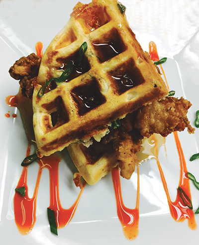 Chicken and Waffles at The Original 46 Gastropub