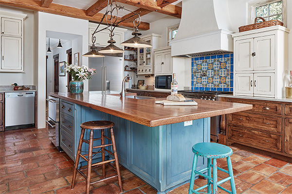 Kitchen in the French Country Home in the Lowcountry