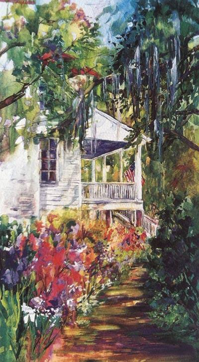 Lynda Potter's Fripp Garden Path Painting