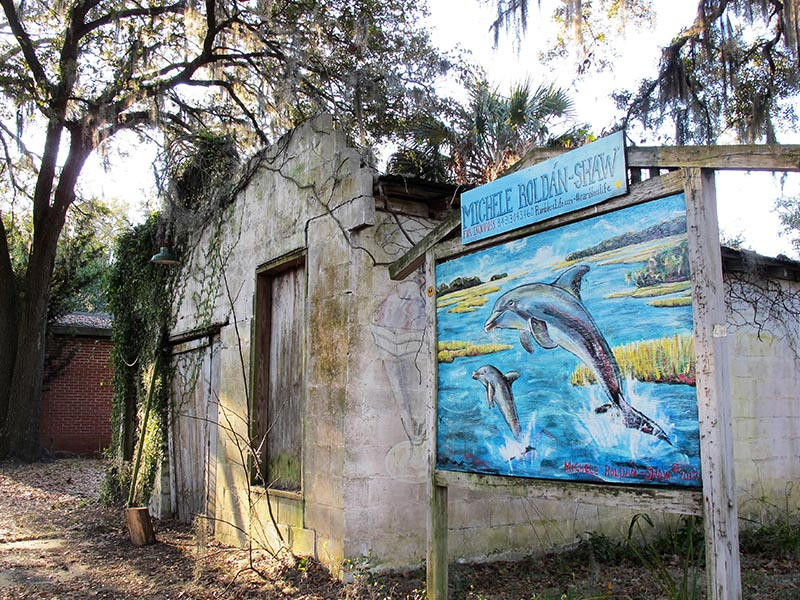 Michele Roldán-Shaw Dolphin Mural in Bluffton