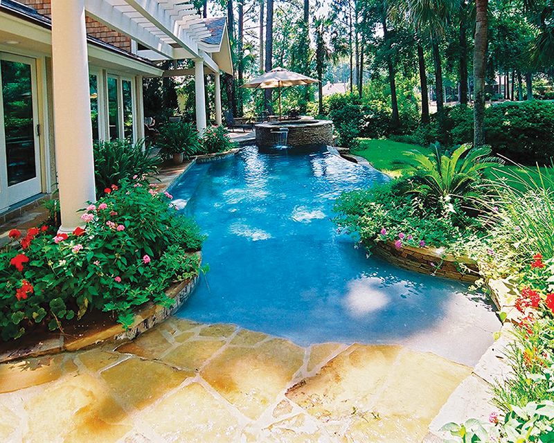 Natural Pool Tucked Close To The House