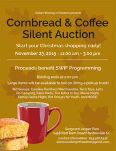 Cornbread and Coffee Silent Auction!